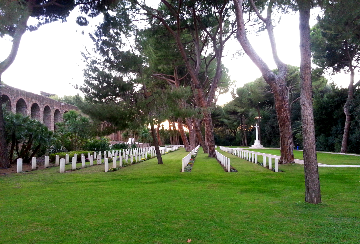 Commonwealth Cemetery Rome in Testaccio