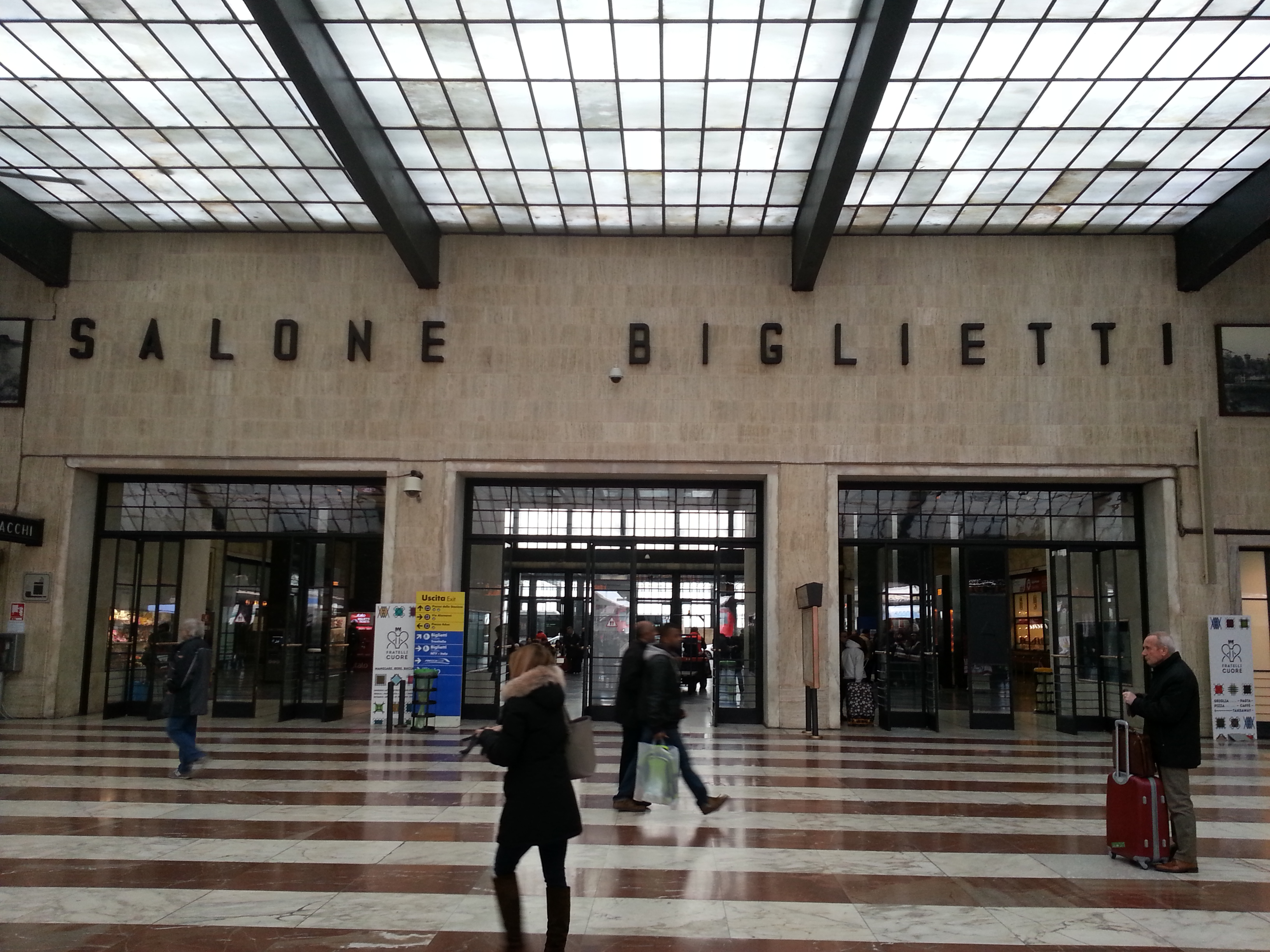 Typography in Florence Station, Italy