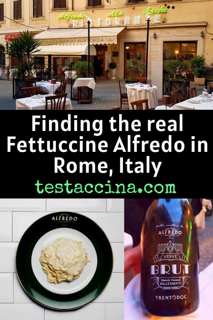 The real Fettuccine Alfredo restaurant in Rome, Italy