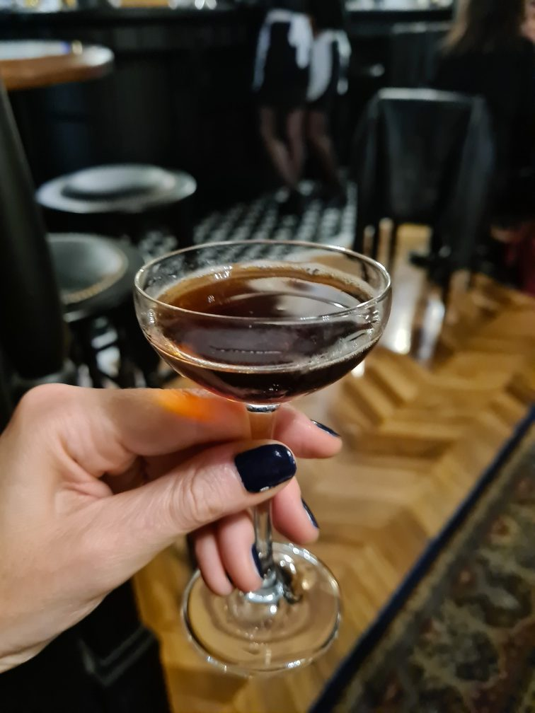 Whisky, speciality coffee and porter cocktail at Treefolks Trastevere