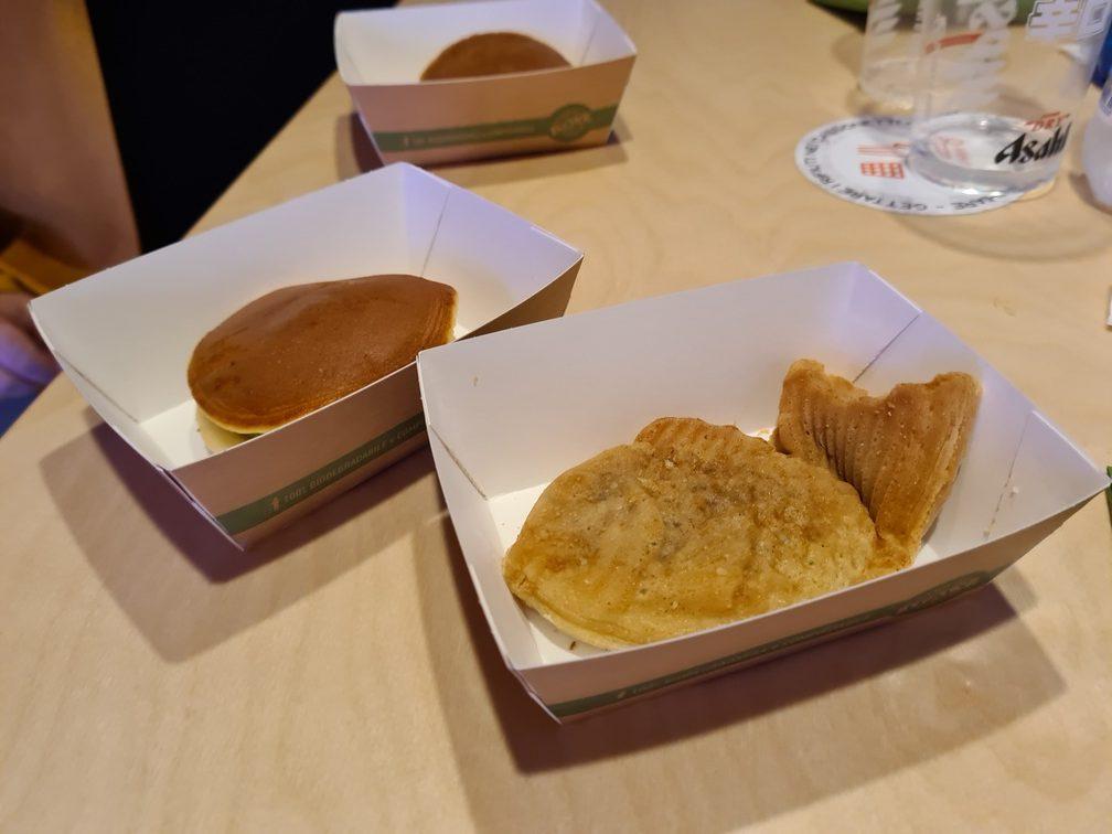 PokeDon desserts including dorayaki and taiyaki