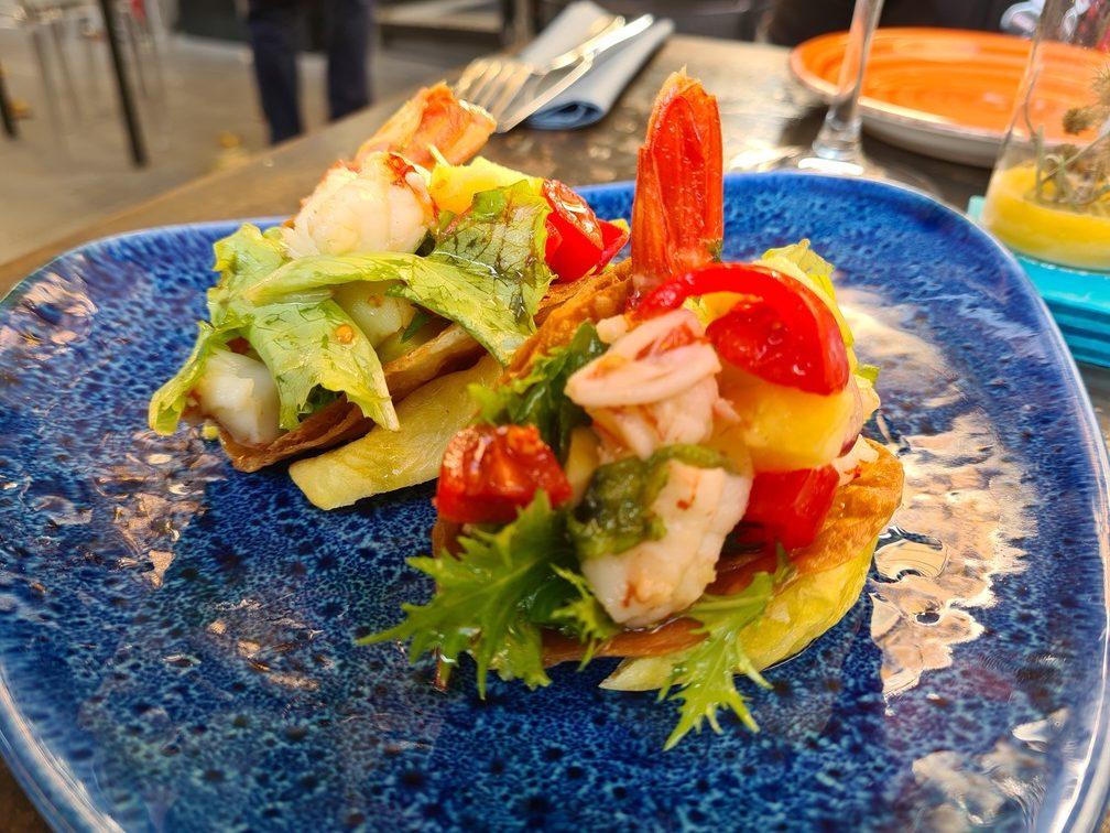 Fish tacos at Salicornia Rome