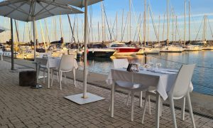 Lux Restaurant in Ostia offers great seafood with sunset views near Rome
