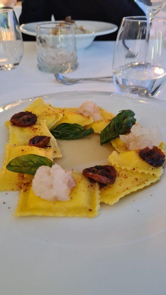 Fish restaurants in Ostia - fish ravioli