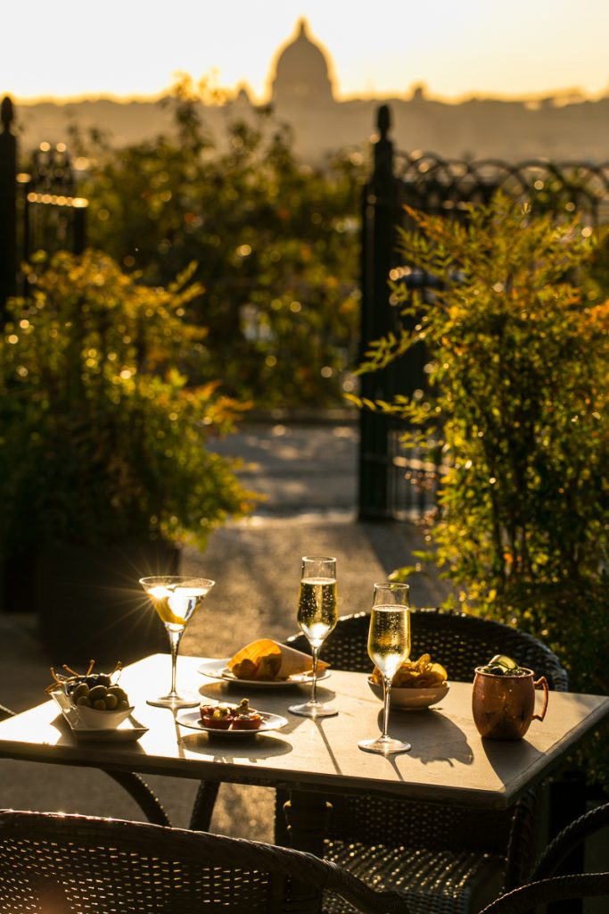 Casina Valadier Roma offers gourmet restaurant Vista Ristorante and the Chill Sunset Bar