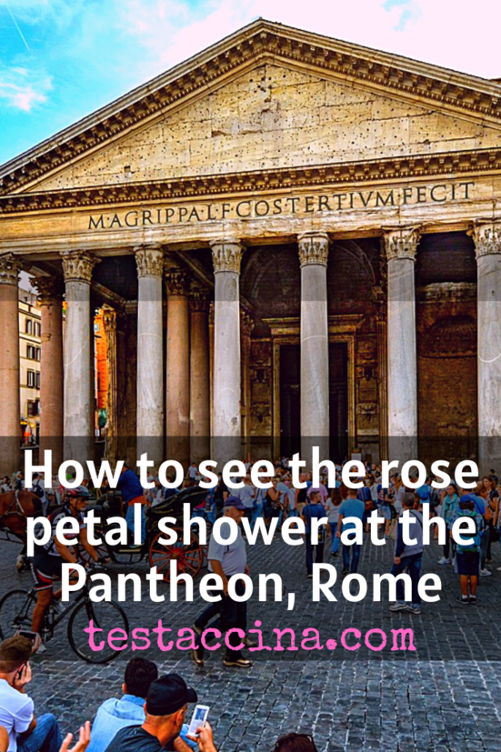 Rose petals at the Pantheon: Pentecost service in Rome