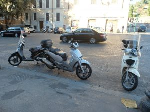 Everything you need to know about driving a scooter in Rome or hiring a Vespa in Rome.