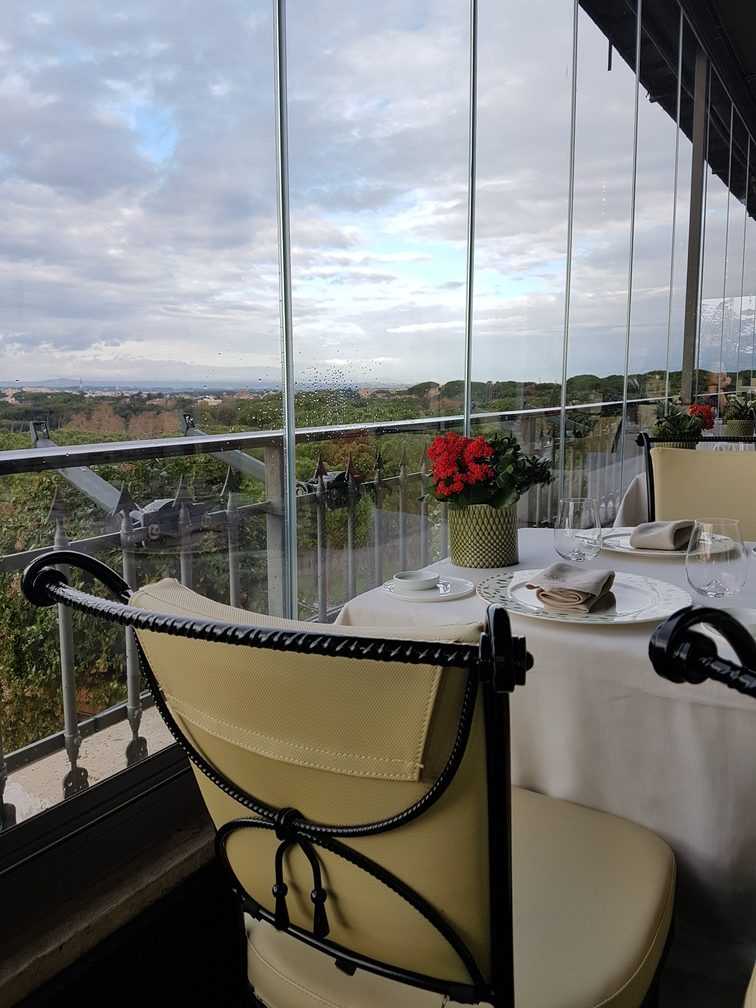 Mirabelle Restaurant Rome, the seventh floor restaurant at the Splendide Royal Hotel in Rome, is one of the best restaurants in Rome with a view.