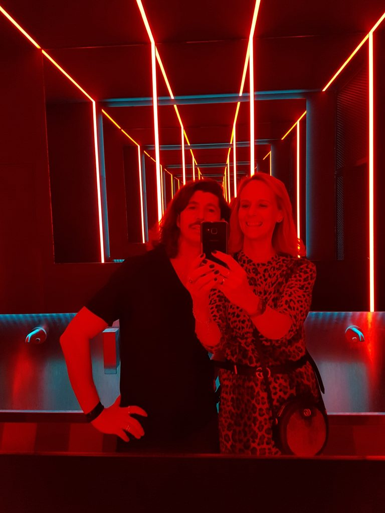 Drink Kong cocktail bar Rome with bathroom selfie