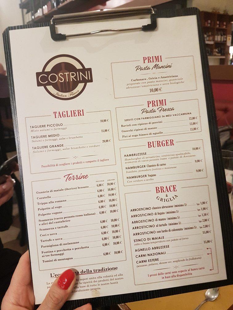 Costrini Italian Flavor, Abruzzo delicatessen, lunch spot and trattoria in Rome's Nomentana neighbourhood