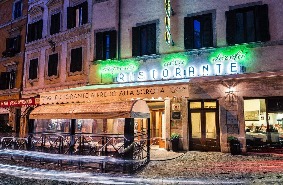Ristorante Alfredo alla Scrofa Rome charity event