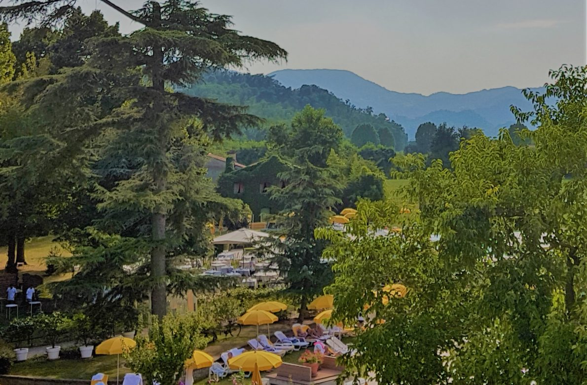 Hotel Terme Preistoriche is a premier spa hotel in Italy's Veneto region, offering spa pools and treatments, plus Jazz by the Pool summer concerts.