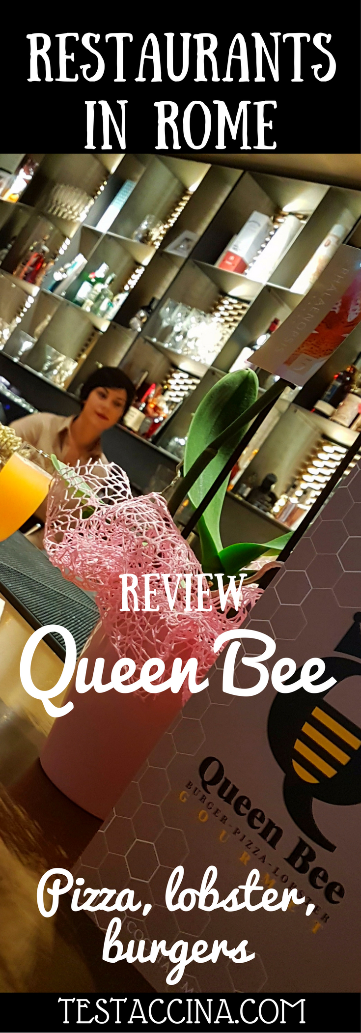 Queen Bee Roma is a new burger, pizza and lobster restaurant in the heart of Rome, with a cocktail and champagne bar to boot. Read on for the full review!