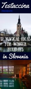 These 12 ideas for wonderful winter holidays in Slovenia include skiing, spas, historical trips, mountains, lake Bled, and restaurant recommendations