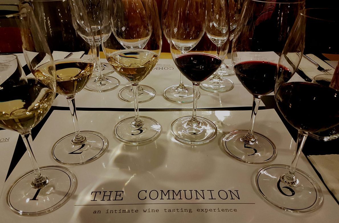 Cha Squared The Communion events are convivial wine tastings held in New York and Rome. Cha McCoy hosts and guides the wine tasting, sharing her knowledge.