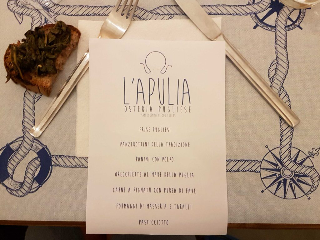 Review: l'Apulia, Rome's latest osteria specialising in food from Puglia, offers street-food options and a sit-down restaurant in the San Lorenzo district