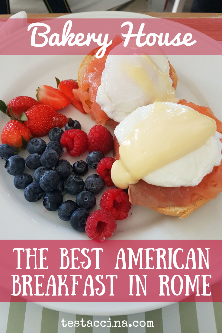 For the best American breakfast in Rome, try Bakery House at EUR, Ponte Milvio & Corso Trieste. Serving waffles, shakes. pancakes, Eggs Benedict and more.