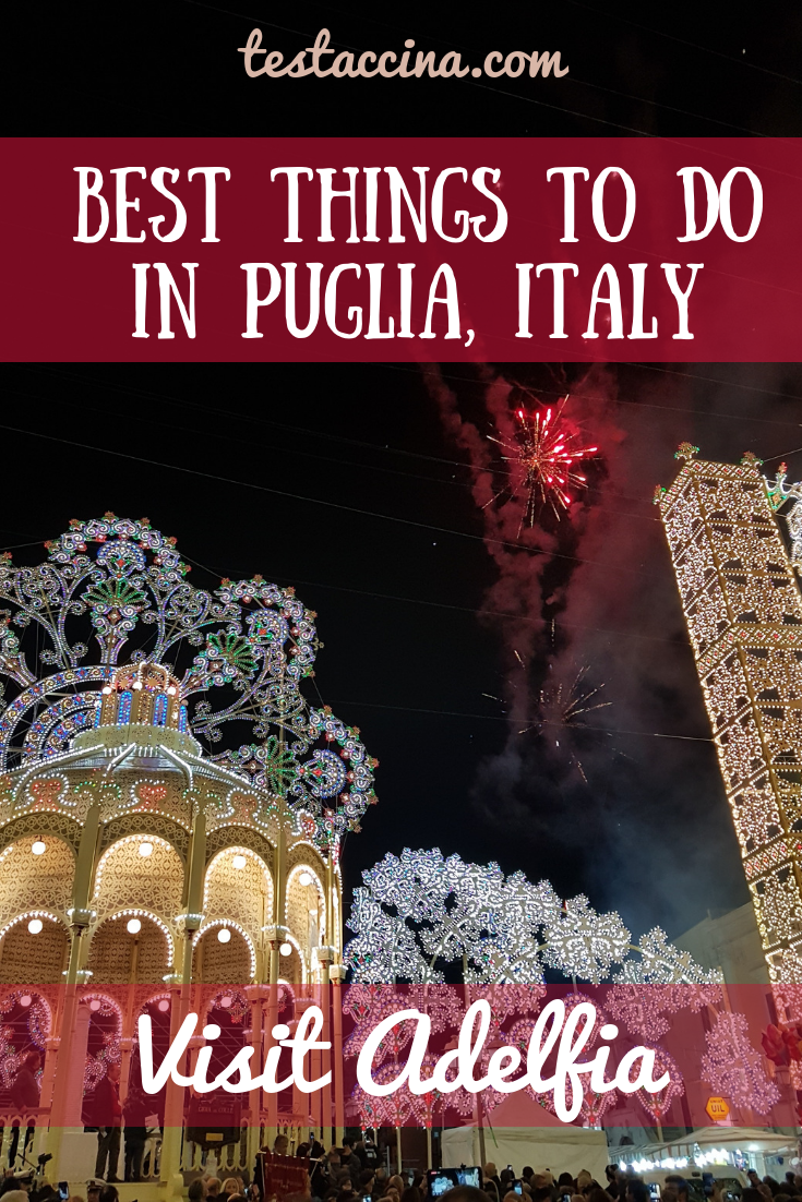 Best things to do in Puglia, Italy: see the San Trifone Adelfia festival for a unique Italian holiday #visitItaly #visitPuglia