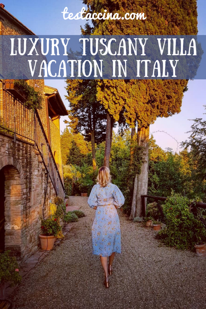Luxury villas Tuscany: Il Paluffo, an ecotourism holiday for sustainable travel in Italy with private pool #SustainableTravelItaly #farmstayItaly #ChiantiTrip #ChiantiWineTour #AgriturismoChianti