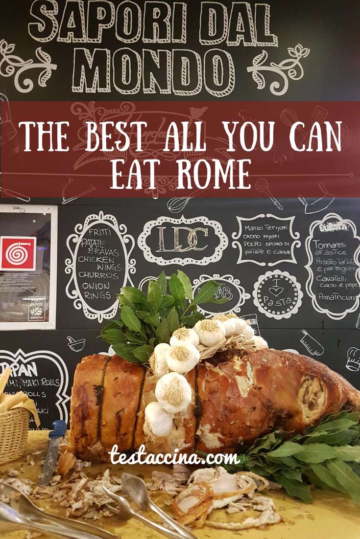 buffet Roma: best all you can eat Rome - Sapori Dal Mondo, one of the best family restaurants in Rome