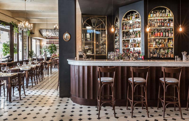 l Marchese, a restaurant and amaro bar in the centre of Rome, is perfectly placed for a drink or a bite to eat after shopping in via del Corso