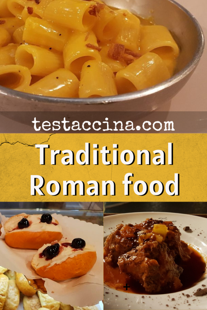 This guide to traditional Roman food includes what to eat, when in Rome, as well as some of the best traditional Roman restaurants. #italianfood #rome