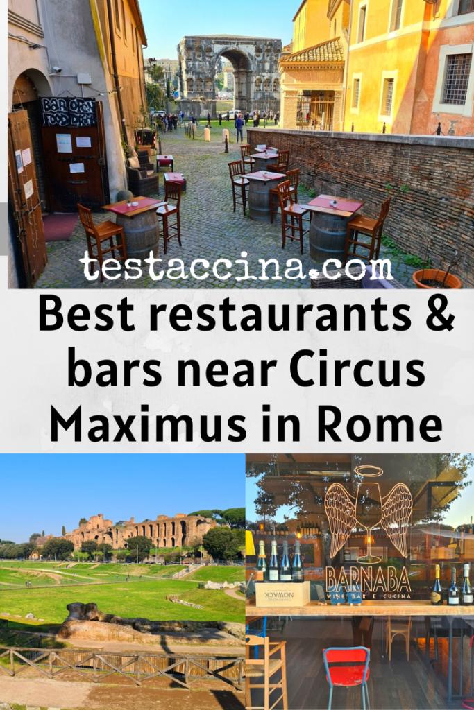 Restaurants near Circus Maximus: where to eat near Circo Massimo, plus the best bars near FAO