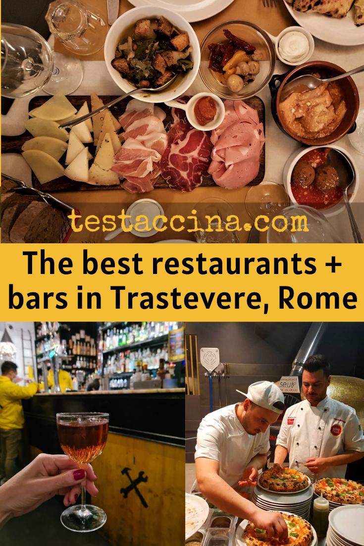 30+ Trastevere restaurants and bars: where to eat in Trastevere, Rome #romerestaurants #italianfood