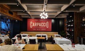 Carpaccio in Prati steakhouse and raw meat restaurant